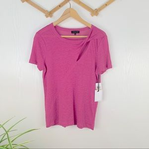 1. State NWT Slit Pink Top